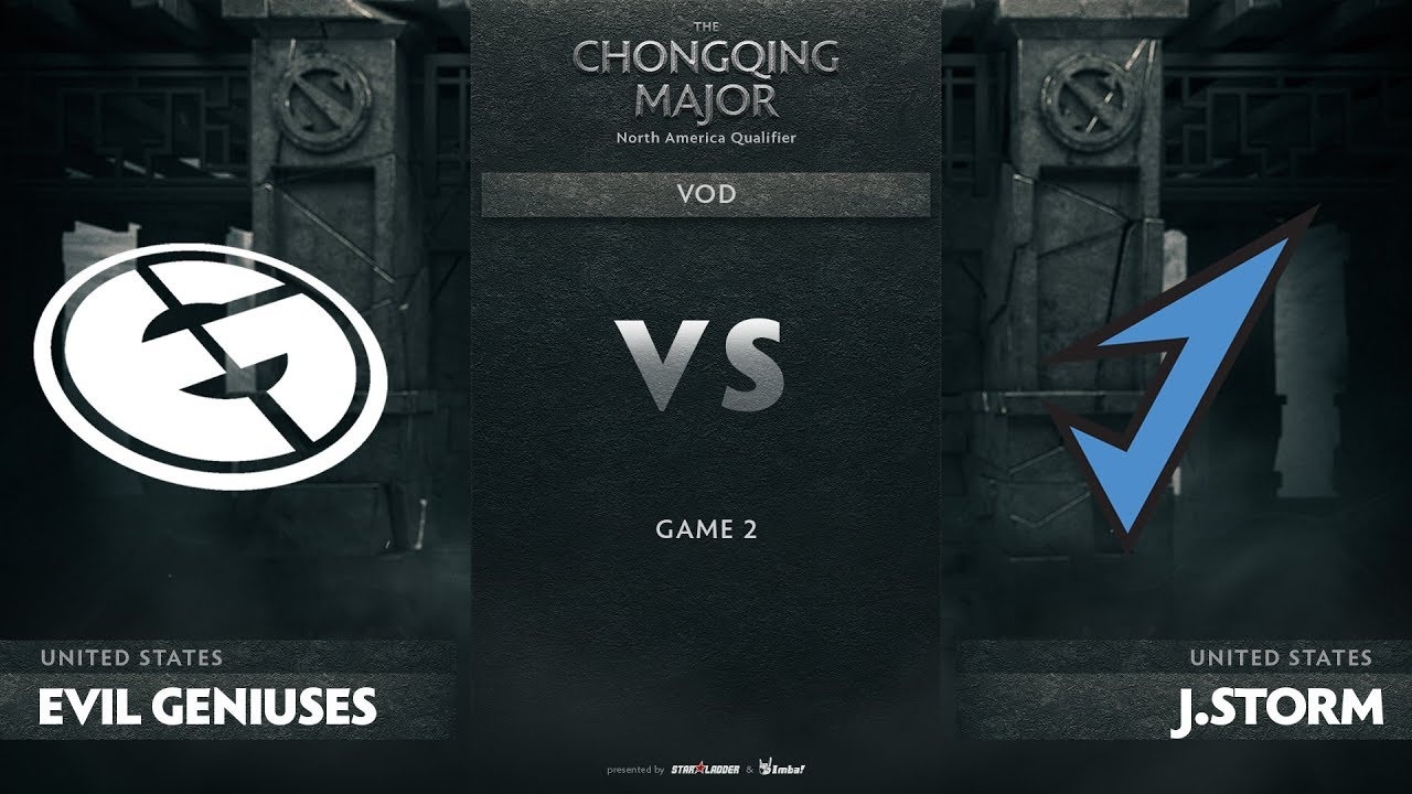 Evil Geniuses vs J.Storm, Game 2, NA Qualifiers The Chongqing Major