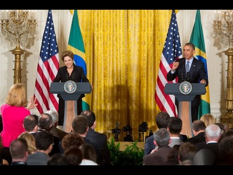 President Obama and the President of Brazil Hold a Joint Press Conference