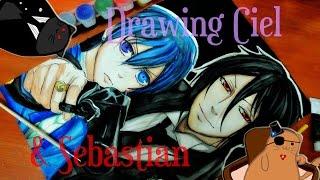 "Character: Ciel & Sebastian ""Black Butler"" Подпишись на мой канал! Subscribe to my channel! Поставь лайк! Like it!"