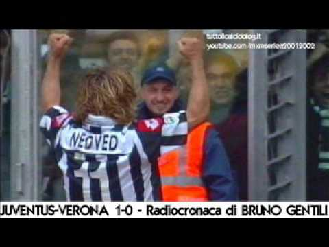 Juventus-Verona 1-0 – Radiocronaca di Bruno Gentili (17/3/2002) da Tutto il calcio minuto per minuto