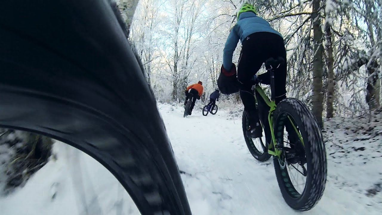 Raw Video Tire View Fat Biking Through Far North Bicentennial