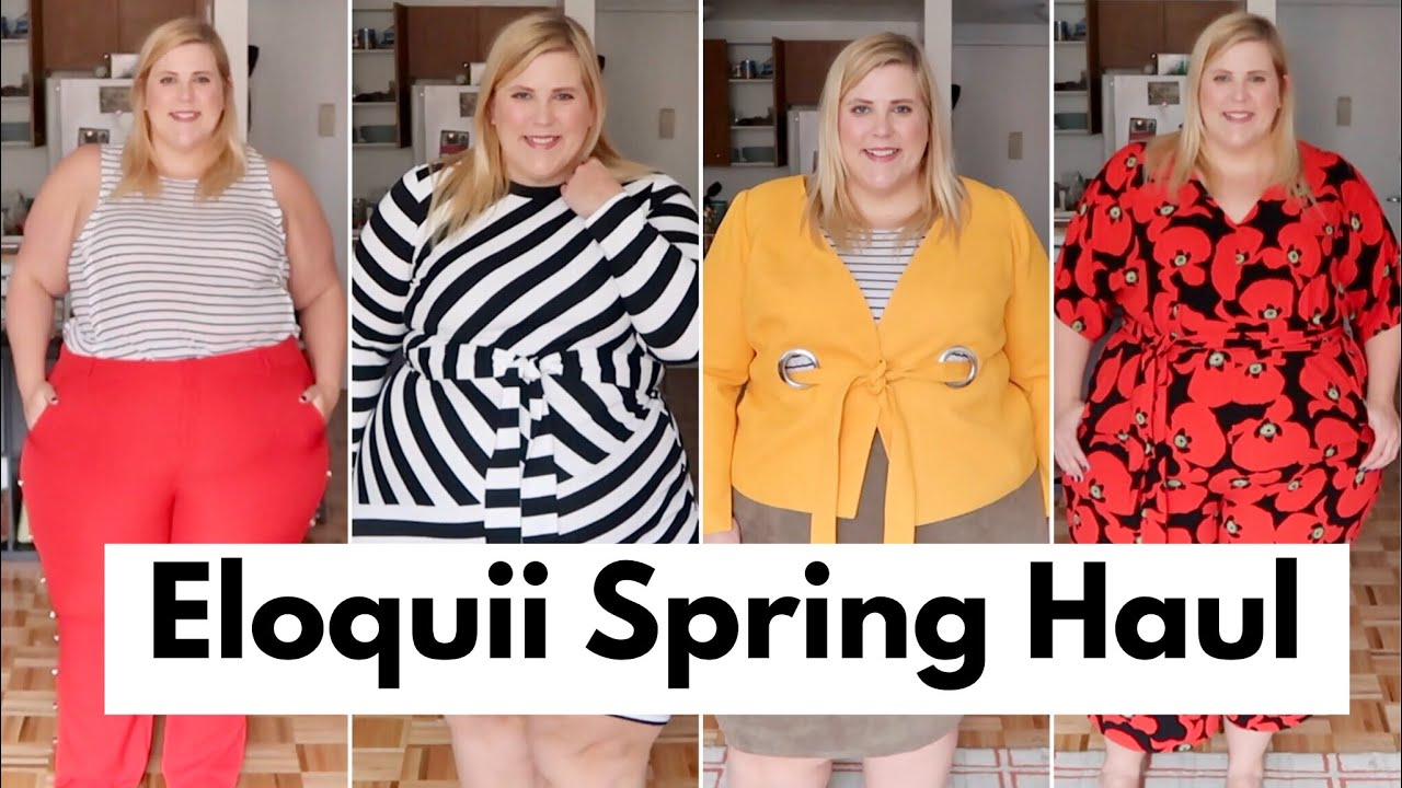78eecedc1a86 Eloquii Spring Plus Size Haul + Try On - YouTube