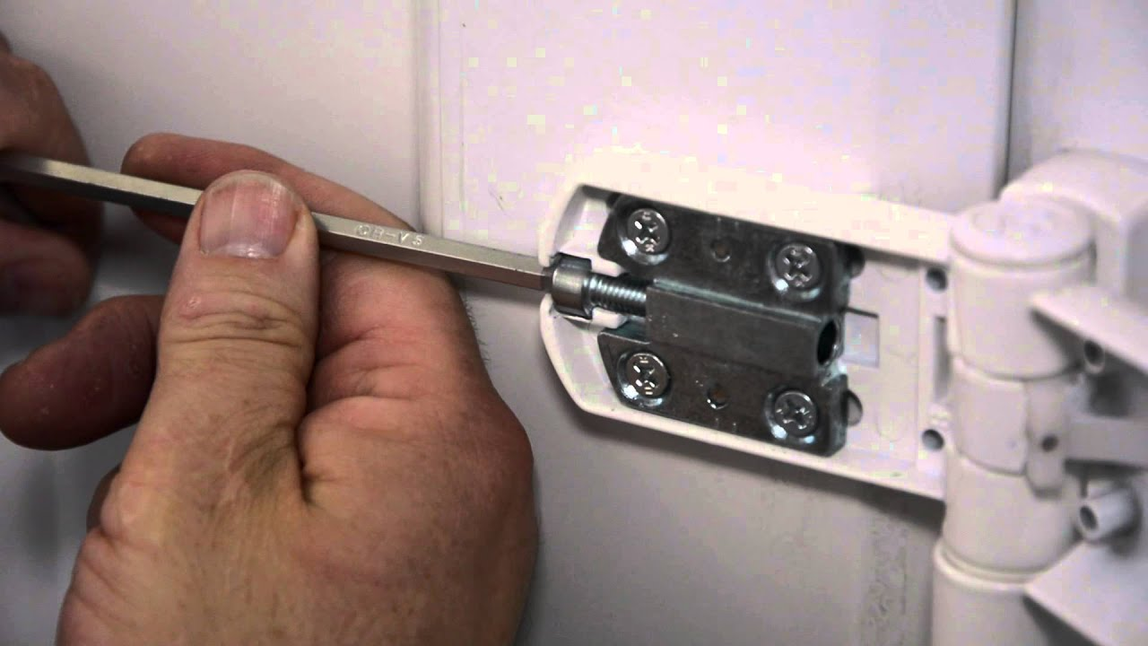 How To Adjust Hinge And Keeps On A Upvc Door Youtube
