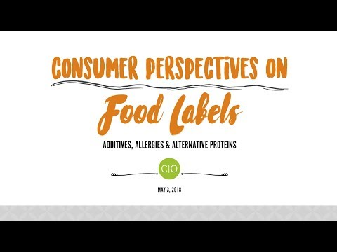 Mark Gale – Consumer Perspectives on Food Labels: Additives, Allergies and Alternative Proteins