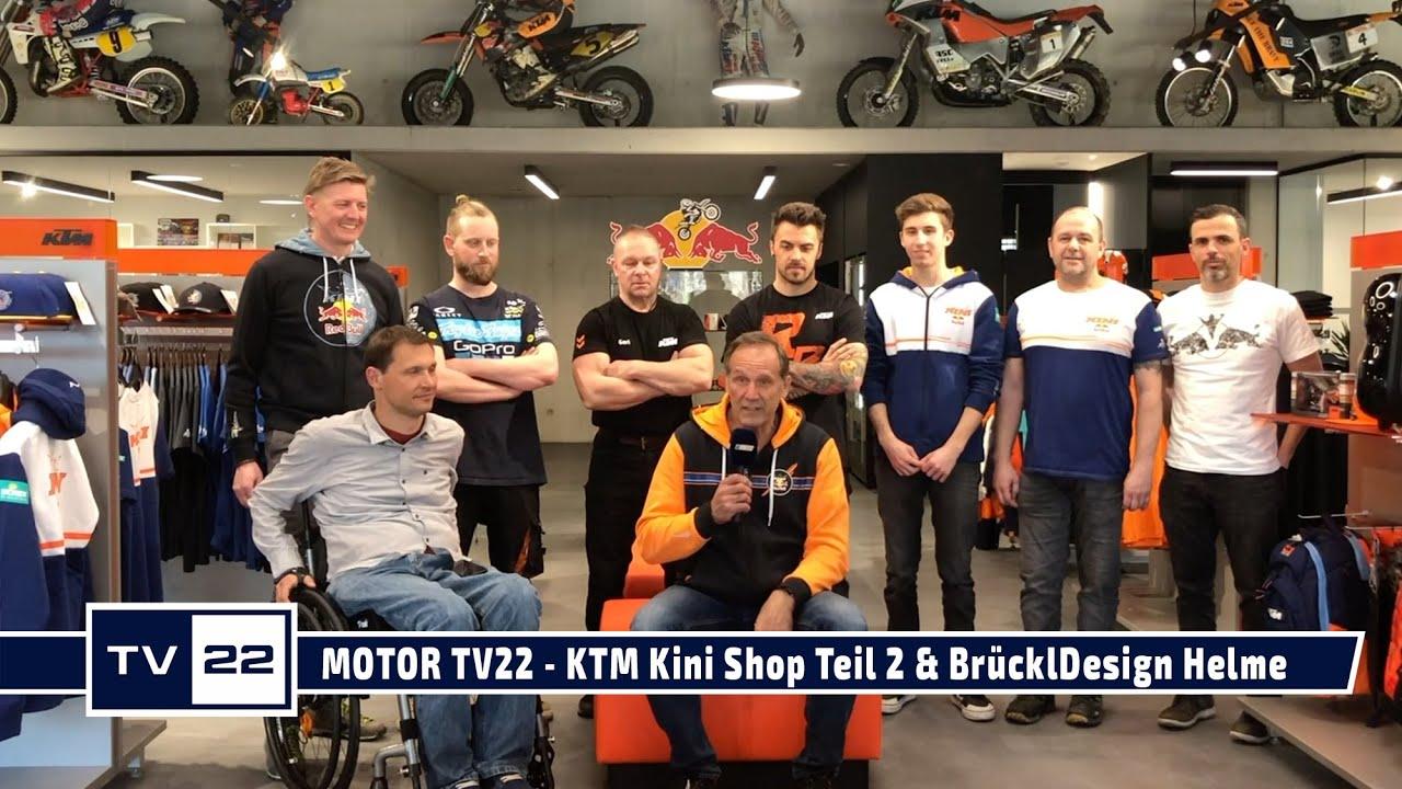 MOTOR TV22: KTM Kini Shop in Wiesing Teil 2 & BrücklDesign Helmübergabe