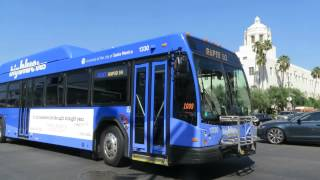 Big Blue Bus: Santa Monica bound Gillig BRT 1330 Rt. R10 at Alameda St/Cesar Chavez Av