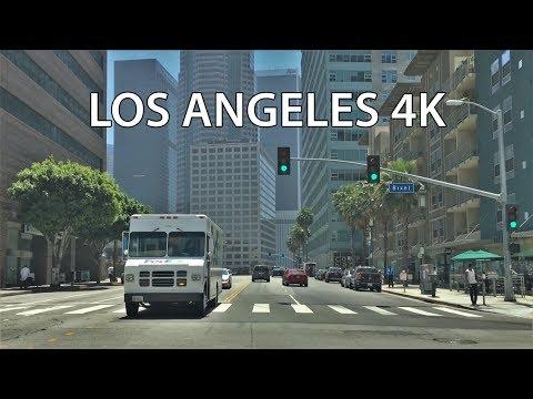 Los Angeles 4K - LA's Main Street - Driving Downtown - USA