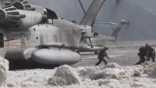 Philippines and US Marines Execute a Live Fire Helicopter Raid and Reinforcement