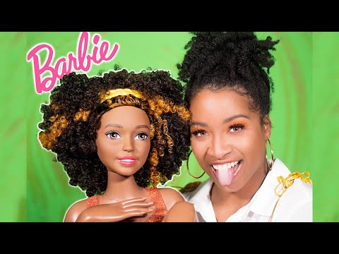 I Got A Beautiful Black Barbie Styling Head W/ Natural Hair! | Type 3 Curls 😻😻😻 (GIVEAWAY)