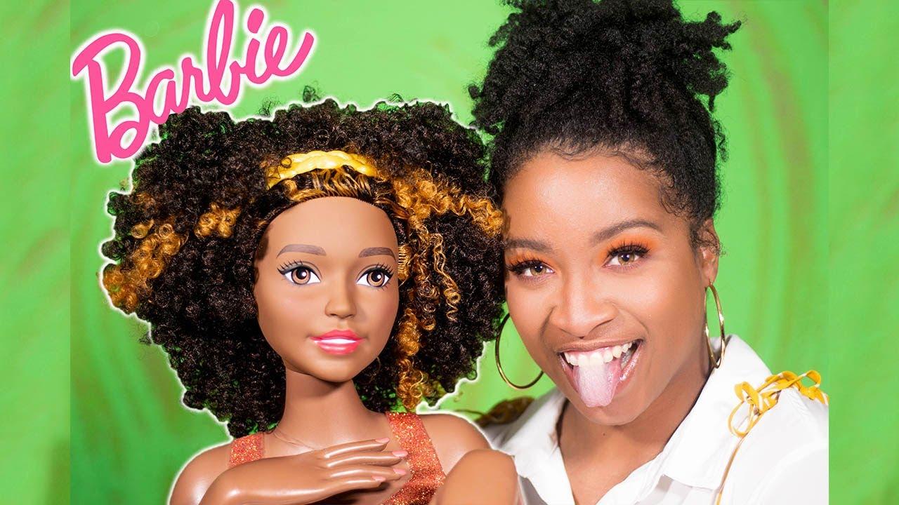 I Got A Beautiful Black Barbie Styling Head W Natural Hair Type