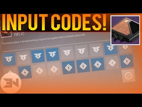 "ALL ""CURIOUS TRANSCEIVER CODES"" - Input Guide - ""Sleeper Simulant Quest"" - Destiny The Taken King"