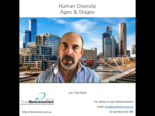 Blog #3 - Human Diversity: Ages & Stages