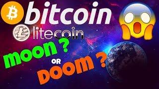 👀BITCOIN LITECOIN MOON or DOOM ?👀 bitcoin litecoin price prediction, analysis, news, trading
