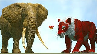 Ark Survival - ELEPHANT vs TIGER/LION and other MAMMALS [Ep.394]