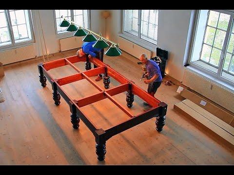 Snookertisch (12 feet) - Aufbau und Montage