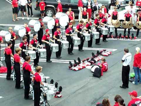 UGA Redcoat band drumline before Dawg Walk vs. Arizona St. 9/26/09