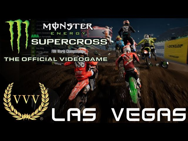 Monster Energy Supercross Las Vegas Gameplay