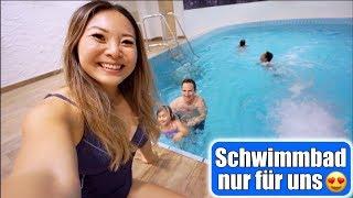 Ganzes Schwimmbad für uns allein 😍 Ab in den Whirlpool! Sommerrodelbahn fahren VLOG | Mamiseelen