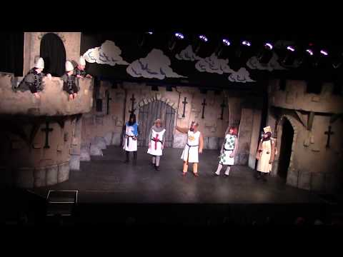 """""""RUN AWAY"""" Ends Act 1 Of Spamalot, With Full Cast On Fire!"""