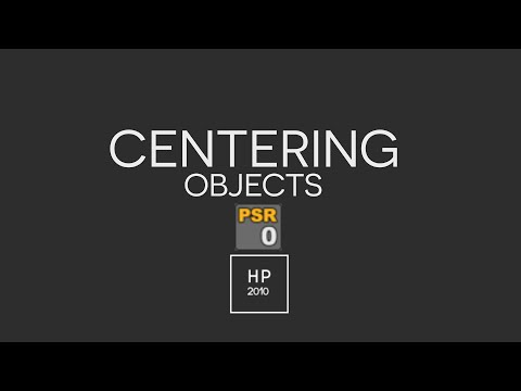 How To Centre An Object In Cinema 4D