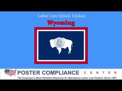 Wyoming Labor Law Poster Update