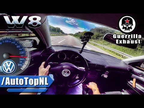 VW Passat W8 ACCELERATION & TOP SPEED AUTOBAHN POV by AutoTopNL