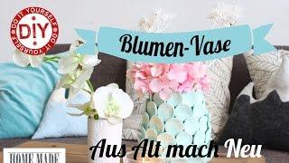 Blumenvasen Hack I Pimpen I Deko Inspirationen Selbstgemacht by Mrs. Shabby Chic