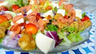 Sałatka z kurczakiem, mixem sałat i mozzarellą - Jak zrobić - [Smakowite Dania]