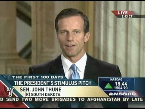 Senator John Thune discusses economic stimulus on MSNBC