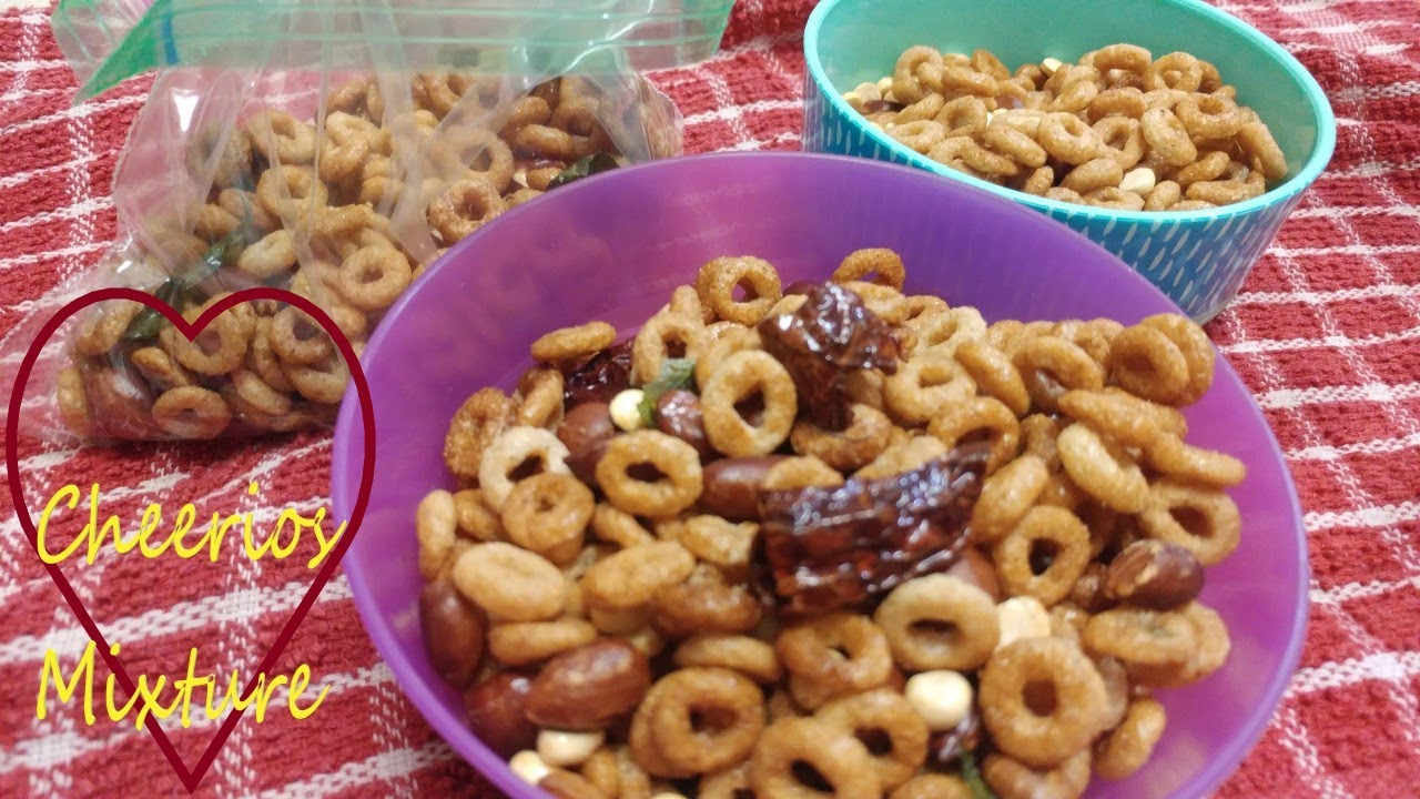 cheerios sweet mixture | interesting way to eat breakfast cereal as snack