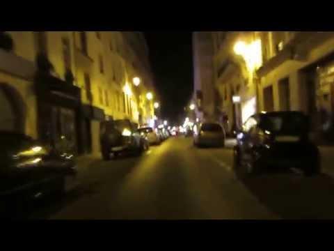 Cycling in Paris by Night: Rue de Berne _ Rue de Rome _ Rue Saint-Honoré