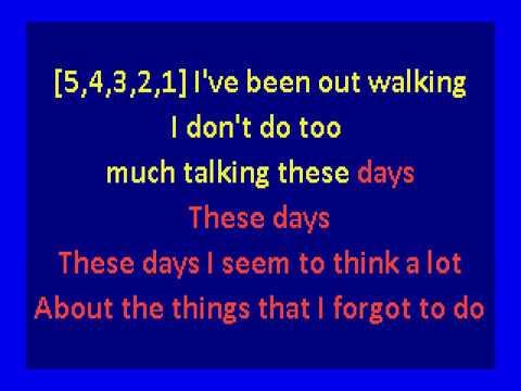 nico   - These Days (karaoke)