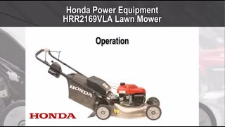 HRR2169VLA Lawn Mower Operation