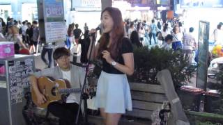 "Video ""Let It Go"" in the streets of KOREA (My 1st Busking Experience @ Hongdae) download MP3, 3GP, MP4, WEBM, AVI, FLV Mei 2017"