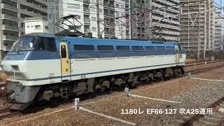 2020(R2)/2/19 高速コンテナ貨物列車、特急 2077レ.3050レ.1055レ.62レ.8056レ遅.1050レ.68レ.1071レ.5087レなど