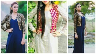 Outstanding Cotton kurti with jackets design ideas/college wear cotton kurta design ideas
