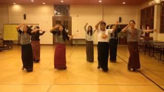 Rigsar Dance 1 (Rehearsal Time) : Namkhai Bu Lu by Bhutanese Students of Asian University for Women