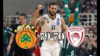 Παναθηναϊκός - Ολυμπιακός 79-70 | Στιγμιότυπα - 6η Αγωνιστική Basket League (18/11/2018)