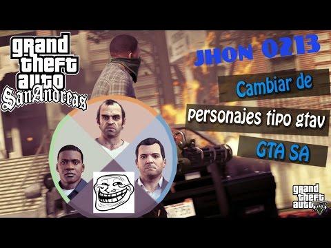 CAMBIAR DE PERSONAJE  Estilo GTA V Para GTA San Andreas