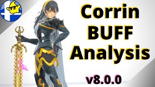How good were the CORRIN BUFFS? (ver 8.0.0 - Smash Bros Ultimate)