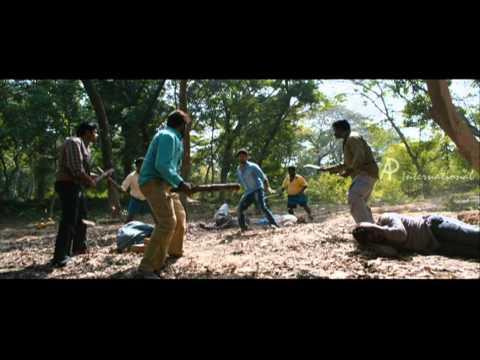 Desingu Raja Tamil Movie   Scenes   Vimal fights the goons   Bindu Madhavi faints   Singampuli