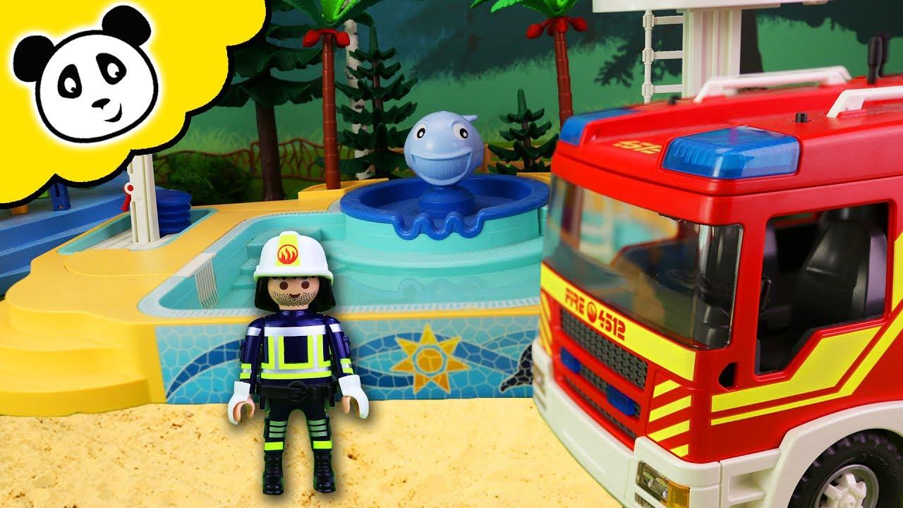 Playmobil Klettergerüst : Playmobil schwimmbad film das brennt!