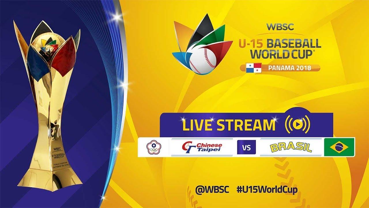 Chinnese Taipei v Brazil - U-15 Baseball World Cup 2018 LIVE