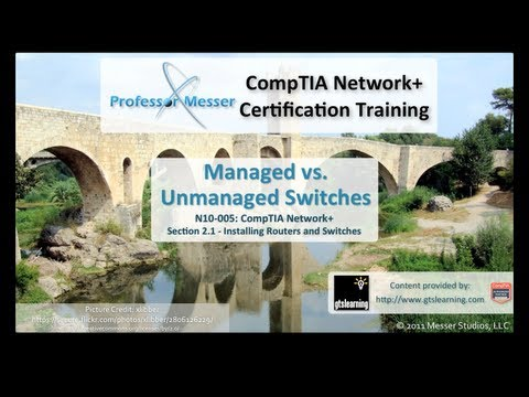 Managed vs. Unmanaged Switches - CompTIA Network+ N10-005: 2.1