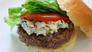 Walnut Blue Cheese Burger Recipe - American Recipe - Cookingwithalia - Episode 326