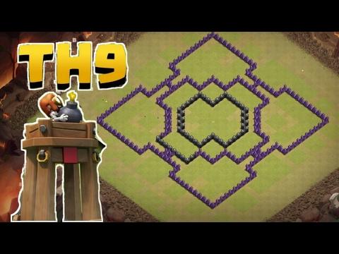Clash Of Clans Rathaus Level 9 Clankrieg Base 2017 Deutsch (HD+)(60FPS)