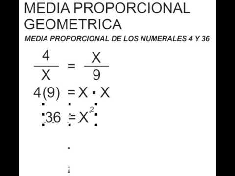 CALCULO DE MEDIA PROPORCIONAL - YouTube
