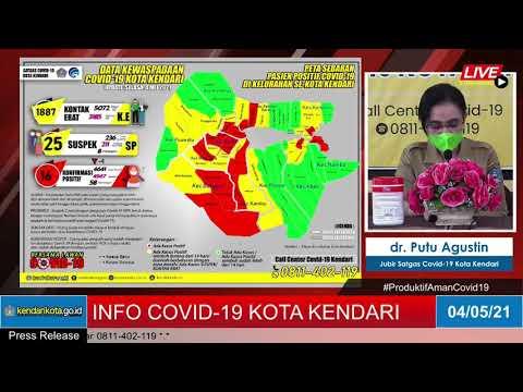 Release Data Medis Covid-19 Kota Kendari, Selasa, 04 Mei 2021