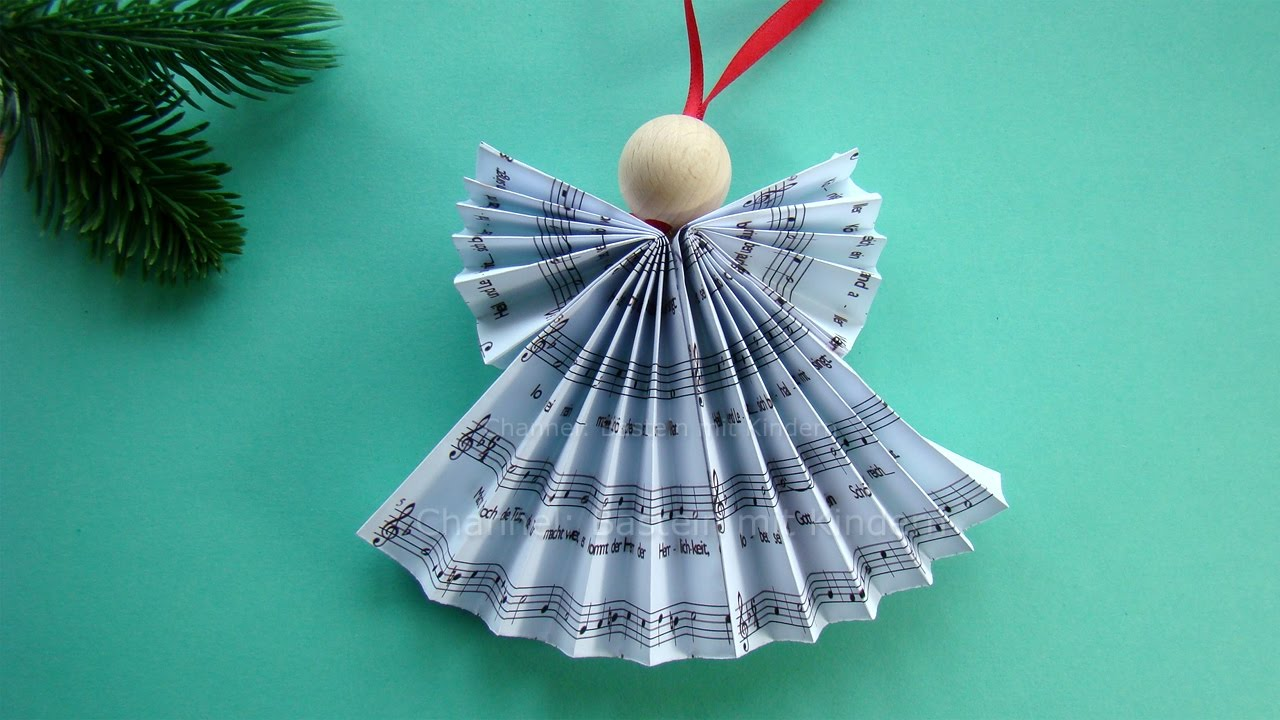 Weihnachtskarten Basteln Mit Demenzkranken Paper Angel How To Make A Paper Angel Christmas Tree Decorations Diy