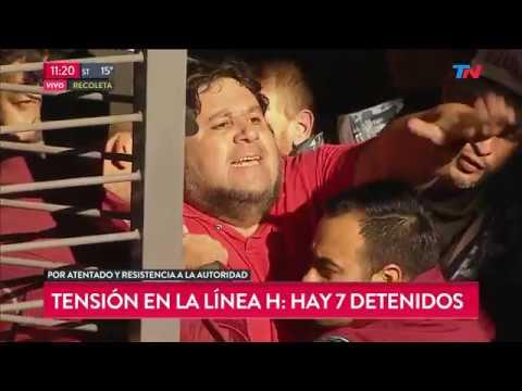 Paro en la Línea H: 7 detenidos